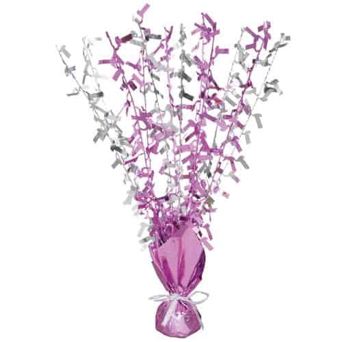Pink Glitz Age 1 Birthday Balloon Weight Centrepiece Product Image