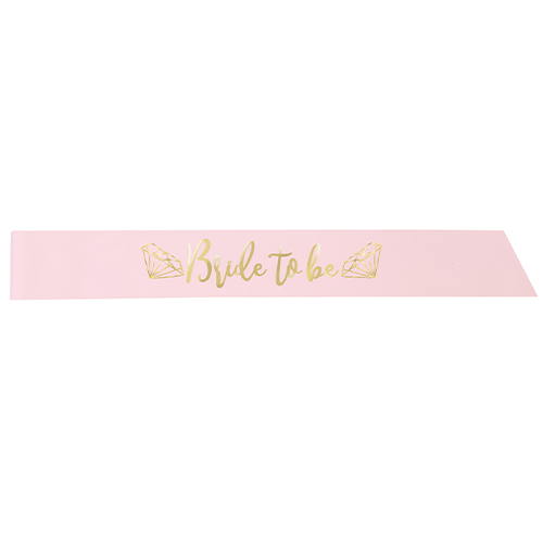 Pink & Gold Bride to Be Hen Party Satin Sash Product Image