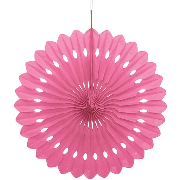 Pink Hanging Decorative Honeycomb Fan 40cm Product Image