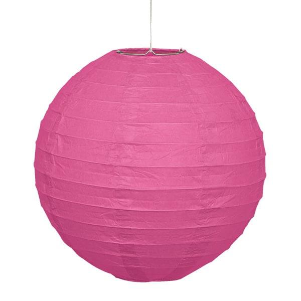 Pink Hanging Round Paper Lantern 25cm Product Image