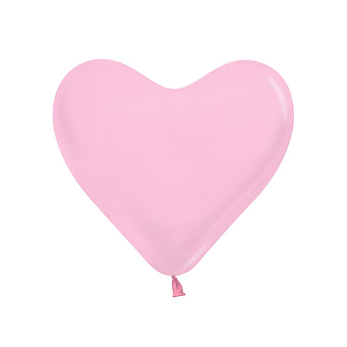 Pink Heart Shape Biodegradable Mini Latex Balloons 15cm / 6 in - Pack of 100 Product Image