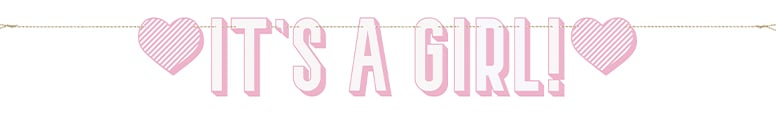 Pink It's a Girl Cardboard Letter Banner 152cm Product Image