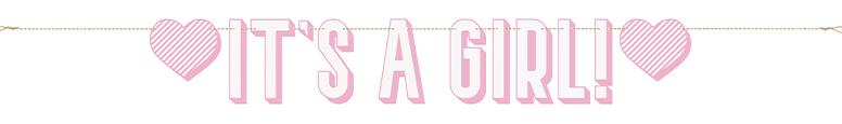 Pink It's a Girl Cardboard Letter Banner 152cm