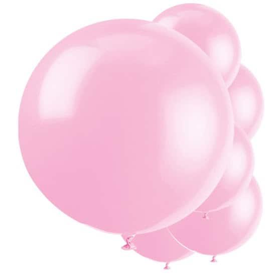 Pink Jumbo Biodegradable Latex Balloons - 91cm - Pack of 6 Product Image