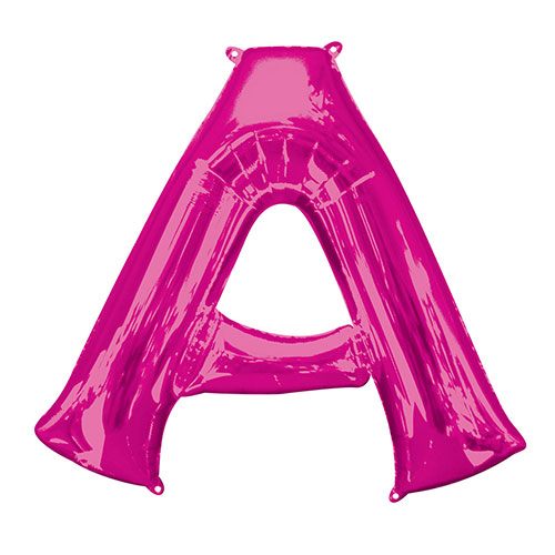 Pink Letter A Air Fill Foil Balloon 40cm / 16 in Product Image