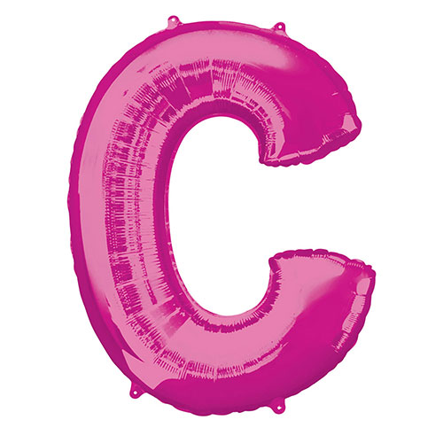 Pink Letter C Air Fill Foil Balloon 40cm / 16 in Product Image