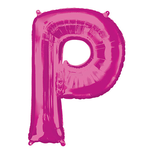 Pink Letter P Air Fill Foil Balloon 40cm / 16 in Product Image