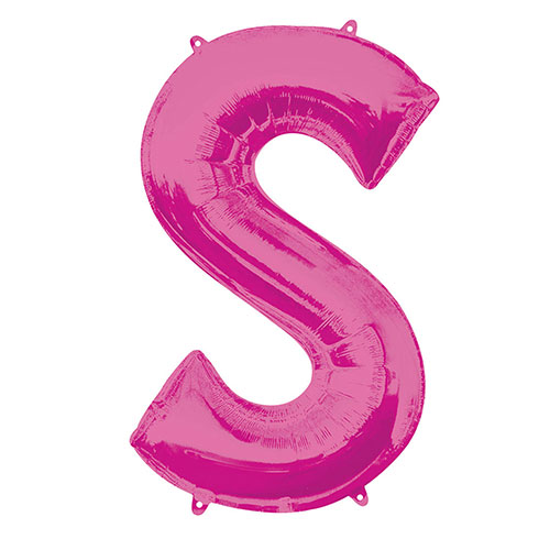 Pink Letter S Air Fill Foil Balloon 40cm / 16 in Product Image