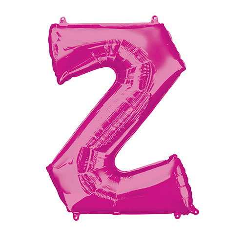 Pink Letter Z Air Fill Foil Balloon 40cm / 16 in Product Image