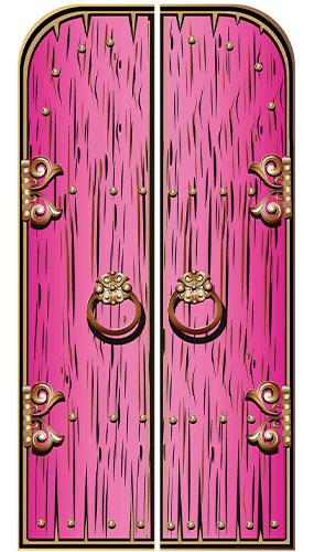 Pink Magical Double Doors Lifesize Cardboard Cutout 191cm