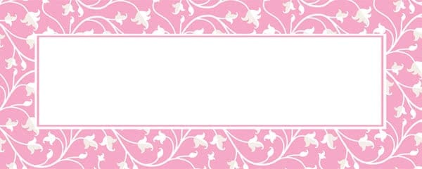 Pink Ornamental Pattern Design Large Personalised Banner - 10ft x 4ft