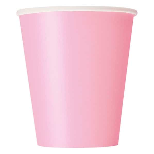 Pink Paper Cups 270ml - Pack of 14