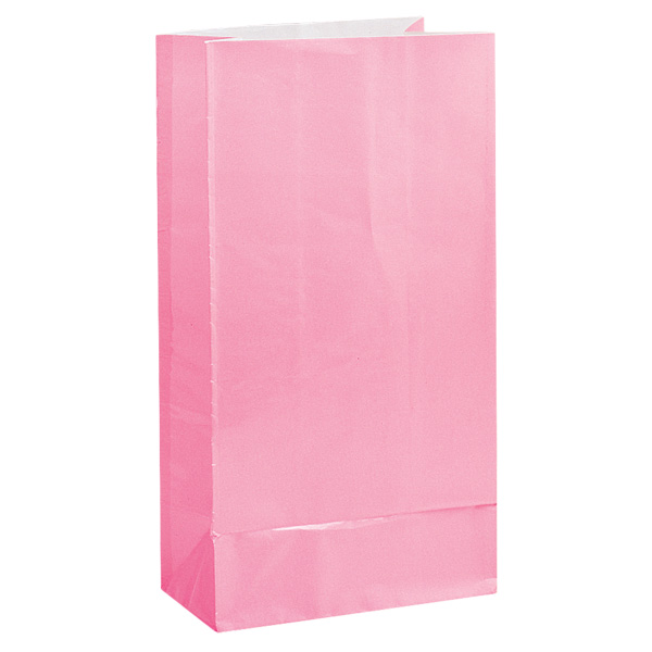 Pink Paper Party Bag - Pack of 12