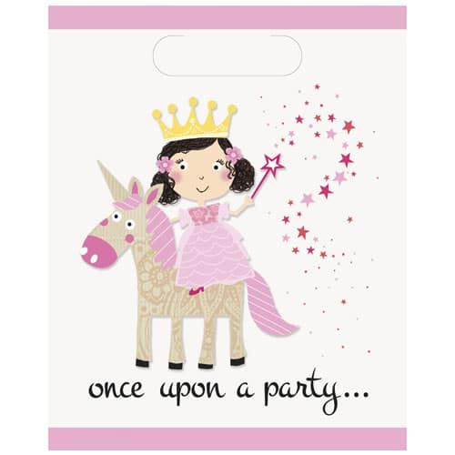 Princess and Unicorn Loot Bags - Pack of 8