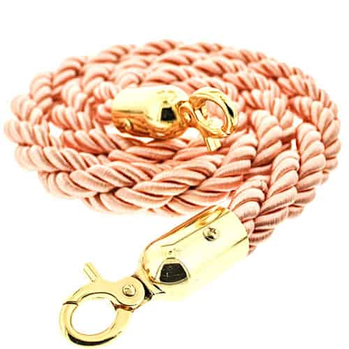 Pink Braided Rope with Brass Hooks Product Image