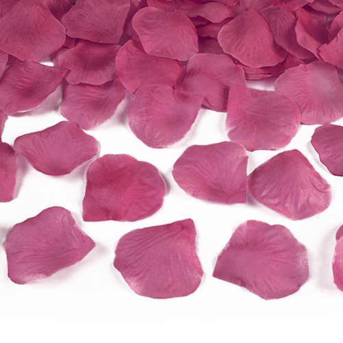 Hot Pink Fabric Rose Petals - Pack of 100 Product Image