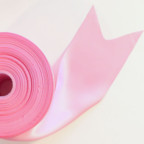 Pink Satin Faced Ribbon Reel 100mm x 91m Product Image
