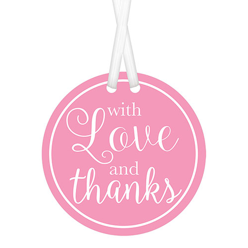 Pink With Love & Thanks Tags with Twist Ties - Pack of 25 Product Image