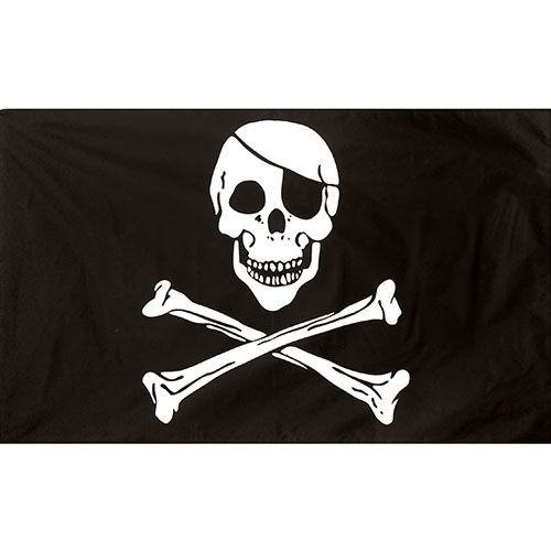 Pirate Jolly Roger Flag 5 x 3 ft