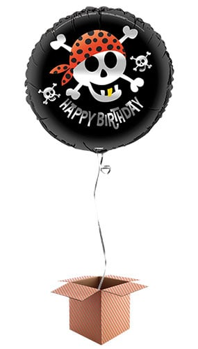 Pirate Fun Round Foil Balloon - Inflated Balloon in a Box