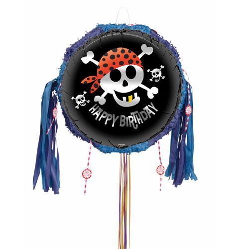 Pirate Fun Pull String Pinata Product Image