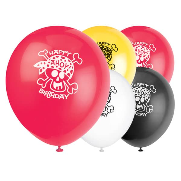 Pirate Fun Biodegradable Latex Balloons – 12 Inches / 30cm – Pack of 8
