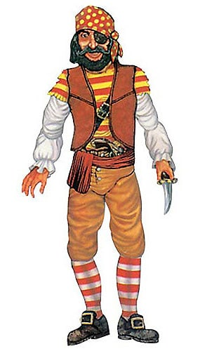 Pirate Jointed Decorative Cutout - 39 Inches / 99cm