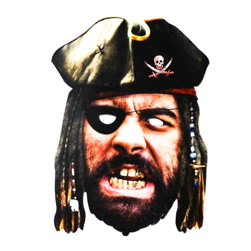 Pirate Cardboard Face Mask Product Image