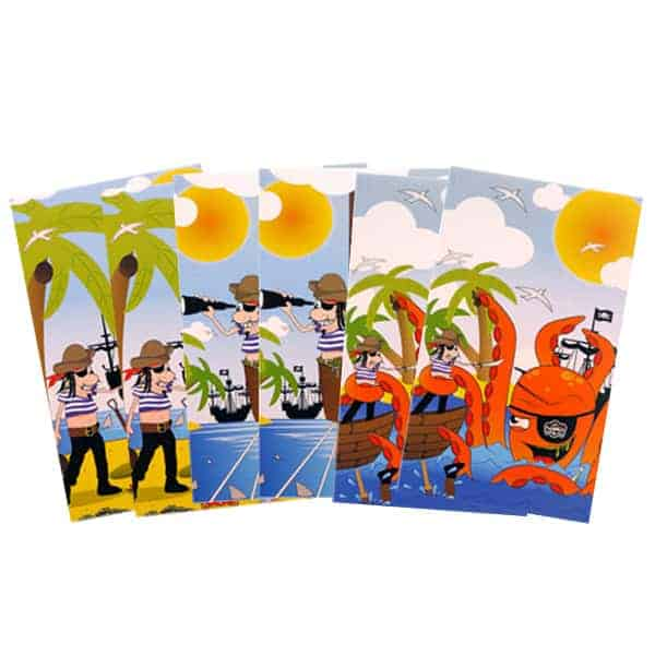 Assorted Mini Pirate Notebooks - Pack of 6 Product Image