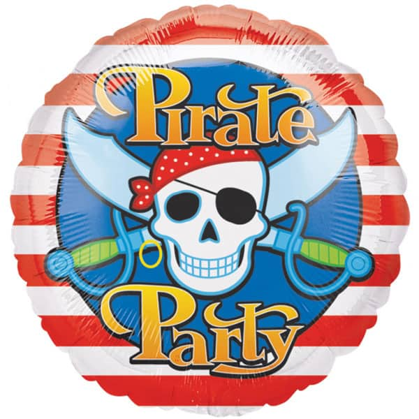 Pirate Party Foil Helium Balloon 46cm / 18 Inches Product Image