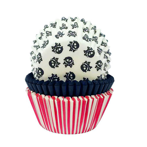 Pirate Paper Baking Cupcake Cases - Pack of 75