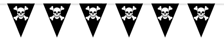 Pirate Party Pennant Bunting - 12 Ft / 366cm Product Image