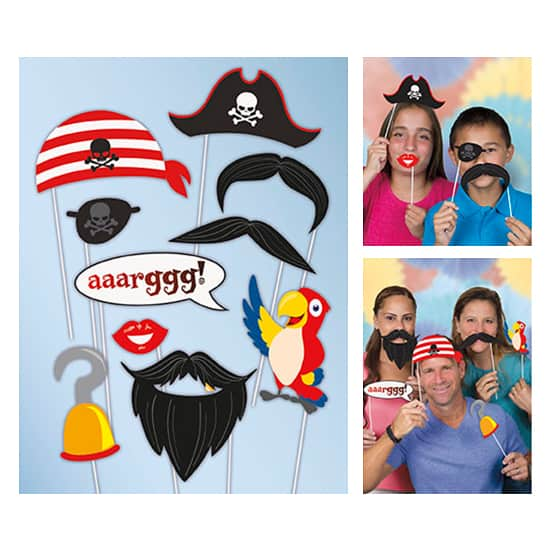 Pirate Photo Prop Accessories - Pack of 10