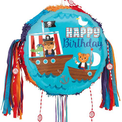 Pirate Ship Birthday Pull String Pinata