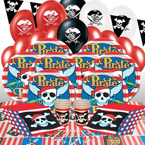 Pirate Theme 16 Person Delux Party Pack Product Image