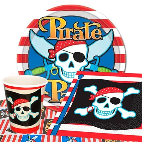 Pirate Theme 8 Person Value Party Pack Product Image