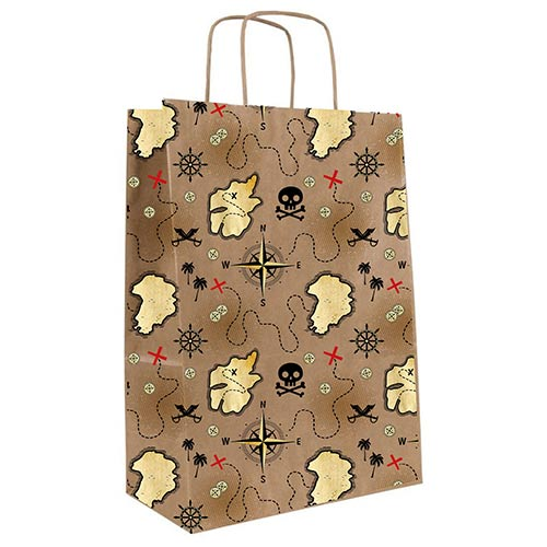 Pirate Treasure Island Paper Party Bags - Pack of 8 Product Image