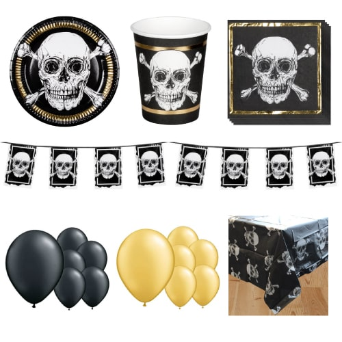 Pirates Gold 12 Person Deluxe Party Pack