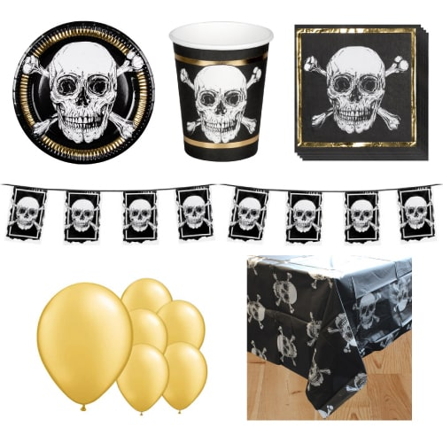 Pirates Gold 6 Person Deluxe Party Pack