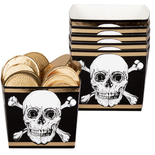 Pirates Gold Foil Paper Bowls - Pack of 6