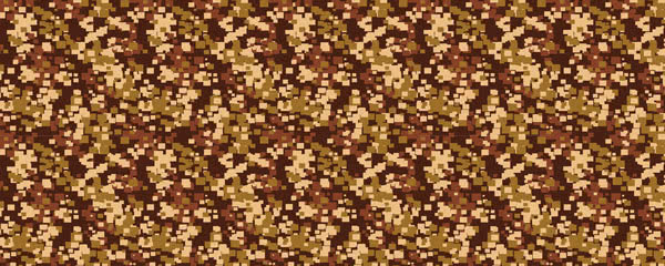 Pixel Brown Camouflage Design Small Personalised Banner - 4ft x 2ft