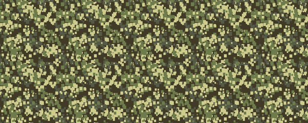 Pixel Green Camouflage Design Large Personalised Banner - 10ft x 4ft