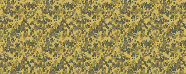 Pixel Khaki Camouflage Design Small Personalised Banner - 4ft x 2ft