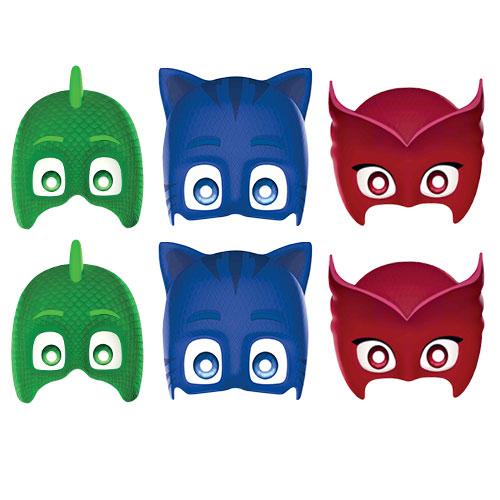 PJ Masks Cardboard Face Masks - Pack of 6