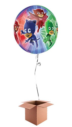PJ Masks Clear Orbz Foil Balloon - Inflated Balloon in a Box Product Image