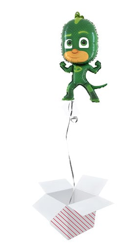 PJ Masks Gekko Helium Foil Giant Balloon - Inflated Balloon in a Box Product Image