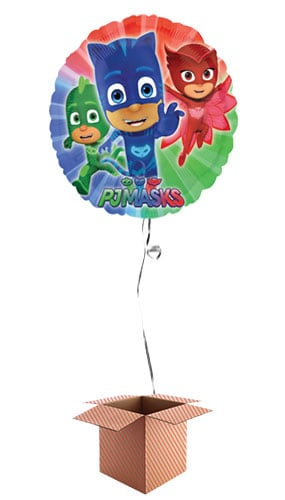 PJ Masks Round Foil Balloon - Inflated Balloon in a Box Product Image