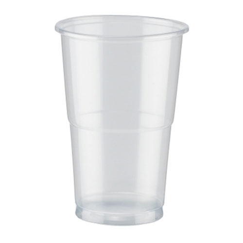 PLA Clear Compostable Half Pint Glasses 350ml / 12 oz - Pack of 50
