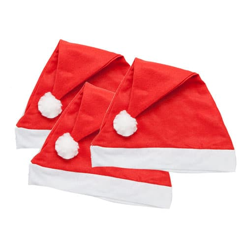 Plain Christmas Santa Hat - Pack of 3 Product Image