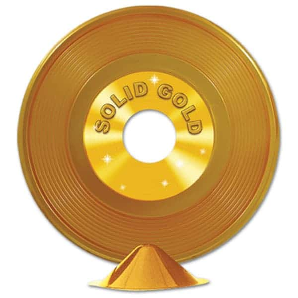 Plastic Gold Record Centrepiece Product Image